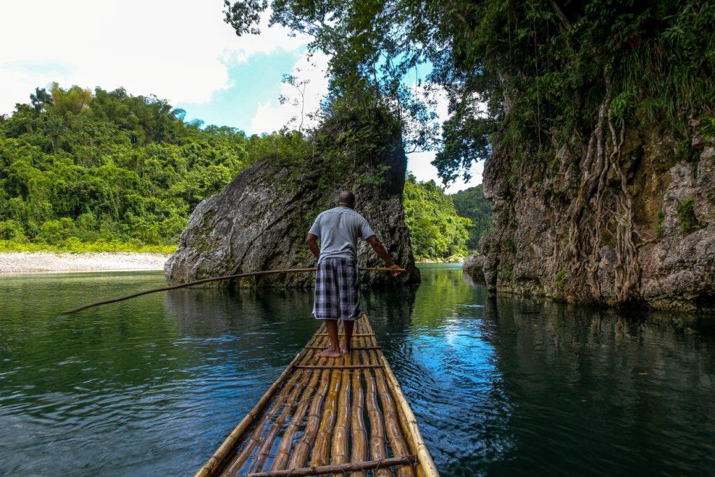 Bamboo Rafting porStéphane DAMOUR