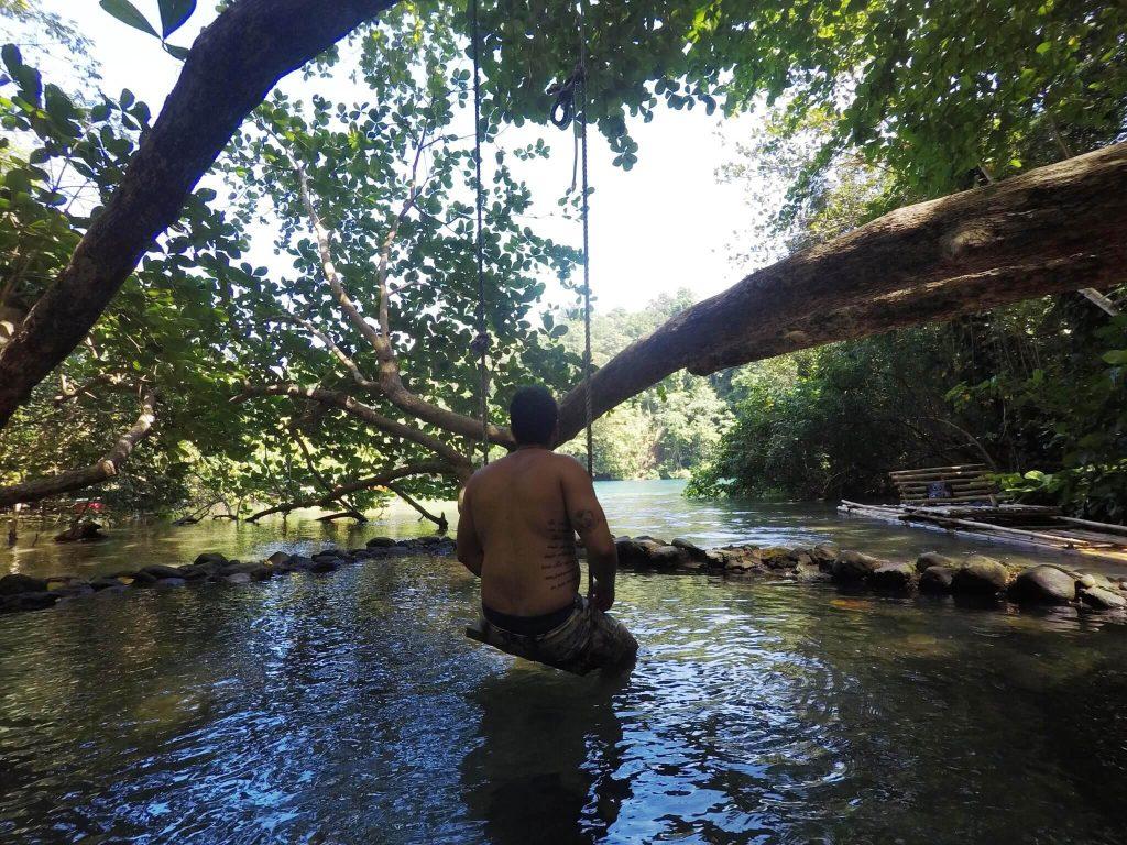 Balanço na Blue Lagoon