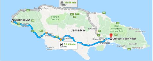 De Negril para Kingston