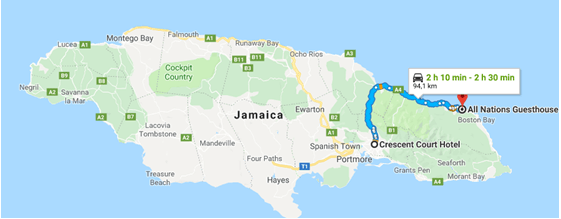 De Kingston para Port Antonio