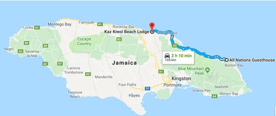 De Port Antonio para Ocho Rios