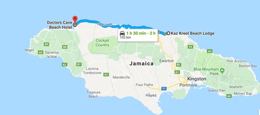 De Ocho Rios para Montego Bay