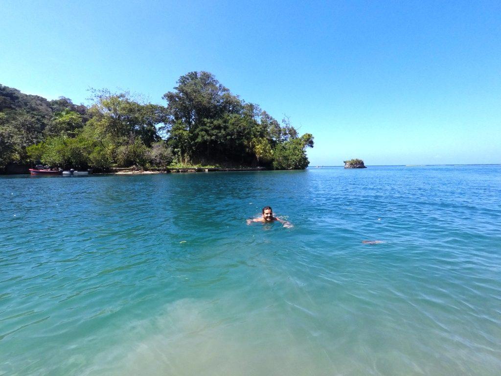 Nadando na Blue Lagoon