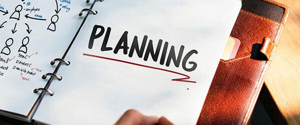 Planeje o quanto antes