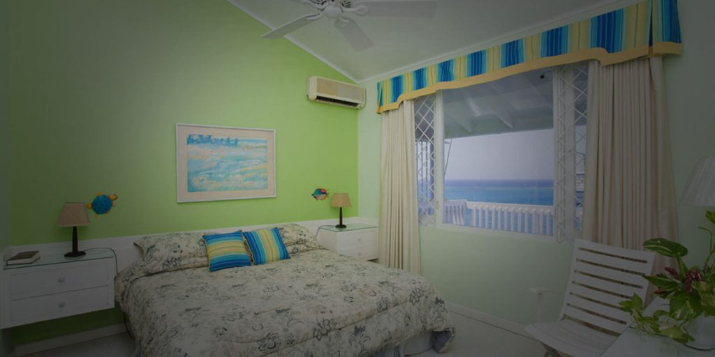 Um dos quartos doColumbus Heights