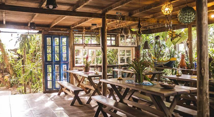 Área de Café da Manhã da pousada Praia do Farol - Ilha do Mel